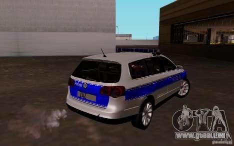 Volkswagen Passat B6 Variant Polizei pour GTA San Andreas vue de droite
