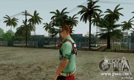 Peau substituer Fam1 pour GTA San Andreas troisième écran