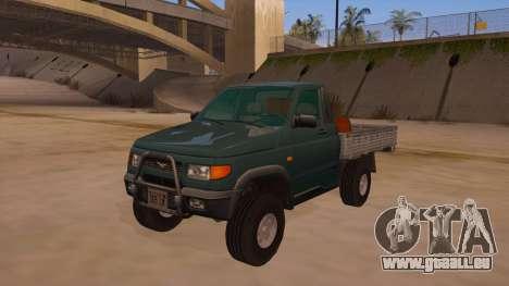 UAZ-2360 für GTA San Andreas obere Ansicht