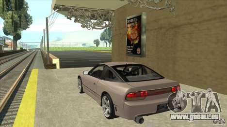 Nissan 240sx S13 JDM für GTA San Andreas zurück linke Ansicht