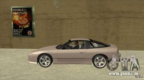Nissan 240sx S13 JDM pour GTA San Andreas laissé vue