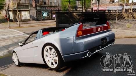 Honda NSX-R (NA2) 2005 pour GTA 4 Vue arrière de la gauche