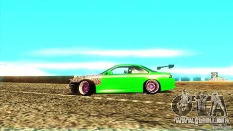 Nissan Silvia S14 für GTA San Andreas Rückansicht