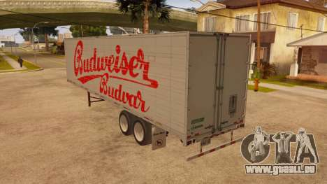 Ganzmetall-trailer für GTA San Andreas zurück linke Ansicht