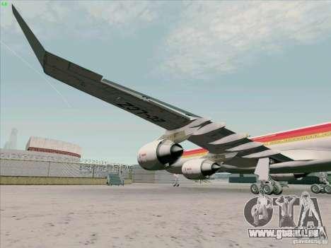 Airbus A-340-600 Iberia pour GTA San Andreas vue intérieure
