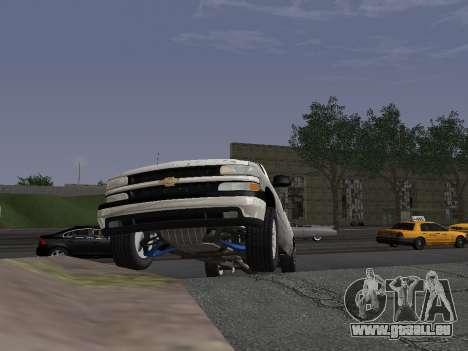 Chevorlet Silverado 2000 für GTA San Andreas Innenansicht
