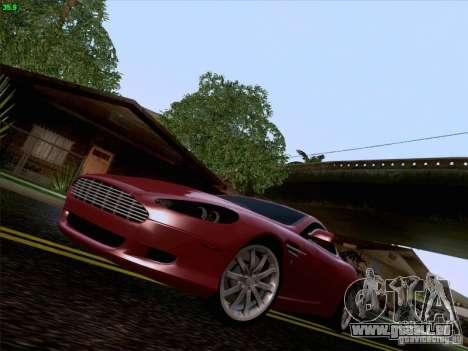 Aston Martin DB9 pour GTA San Andreas vue de dessous