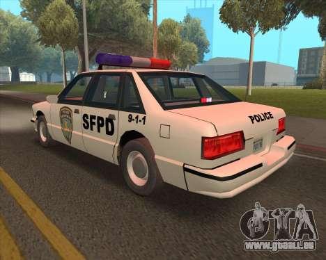 Updated SFPD pour GTA San Andreas vue de droite