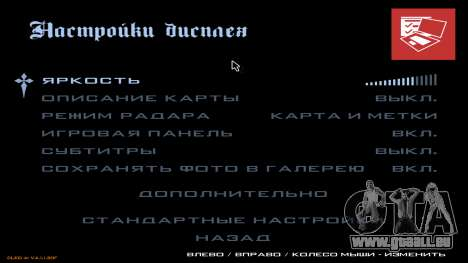 Neues Menü aus CatVitalio für GTA San Andreas achten Screenshot