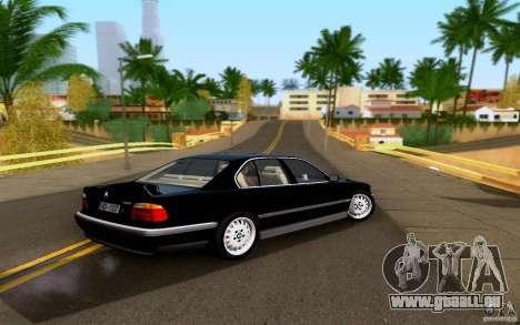 BMW 730i E38 FBI pour GTA San Andreas laissé vue