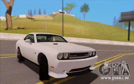 Dodge Challenger für GTA San Andreas zurück linke Ansicht