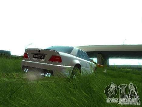 Mercedes-Benz W124 BRABUS pour GTA San Andreas vue arrière
