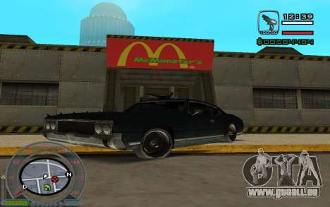 New Sabre pour GTA San Andreas laissé vue