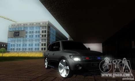 Mitsubishi Pajero FBI pour GTA San Andreas sur la vue arrière gauche