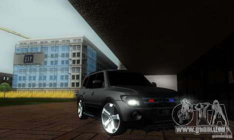 Mitsubishi Pajero FBI für GTA San Andreas zurück linke Ansicht