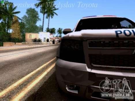 Chevrolet Tahoe 2007 NYPD für GTA San Andreas Innenansicht
