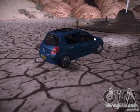 Renault Clio III pour GTA San Andreas vue de droite