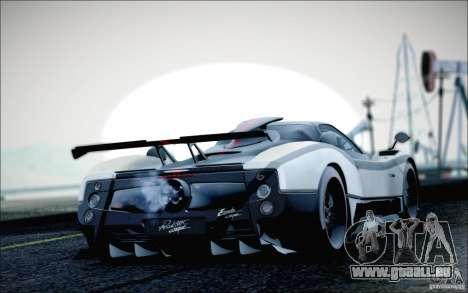 Pagani Zonda Cinque Roadster 2009 für GTA San Andreas linke Ansicht