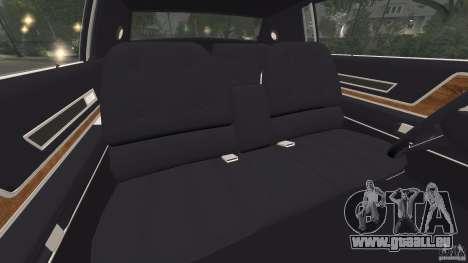 Cadillac Eldorado 1968 pour GTA 4 est une vue de l'intérieur