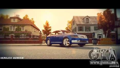 VW Passat B7 TDI Blue Motion pour GTA 4 est une vue de l'intérieur