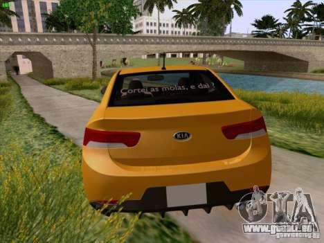Kia Cerato Coupe 2011 für GTA San Andreas Unteransicht