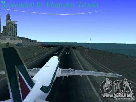 Airbus A320-214 Alitalia v.1.0 pour GTA San Andreas vue de côté