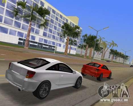 Toyota Celica 2JZ-GTE noir Revel pour GTA Vice City sur la vue arrière gauche