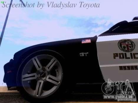 Ford Mustang GT 2011 Police Enforcement pour GTA San Andreas vue de côté