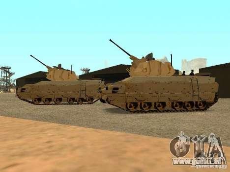 M2A3 Bradley für GTA San Andreas Rückansicht