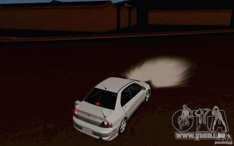Mitsubishi Lancer Evo VIII GSR pour GTA San Andreas vue de droite