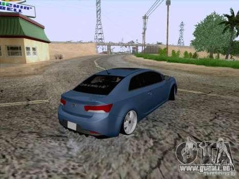Kia Cerato Coupe 2011 für GTA San Andreas Innenansicht
