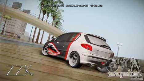 Peugeot 206 Shark Edition für GTA San Andreas rechten Ansicht