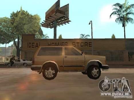 Landstalker nouveau pour GTA San Andreas laissé vue