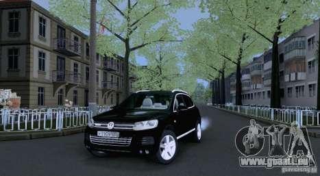 Volkswagen Touareg 2012 pour GTA San Andreas laissé vue