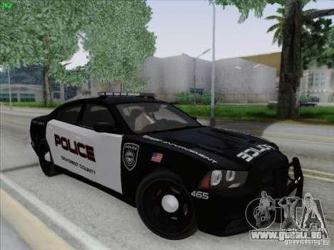 Dodge Charger 2012 Police für GTA San Andreas Seitenansicht