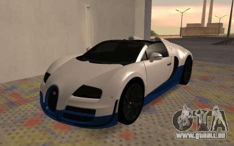 Bugatti Veyron Grand Sport Vitesse für GTA San Andreas