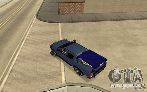 Toyota Hilux Rally Version für GTA San Andreas zurück linke Ansicht