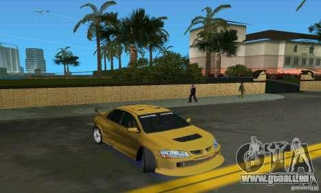 Mitsubishi Lancer Evo für GTA Vice City zurück linke Ansicht