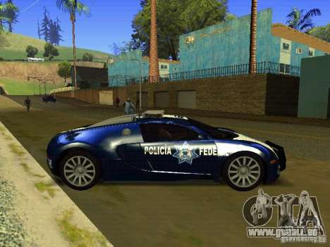 Bugatti Veyron Federal Police für GTA San Andreas linke Ansicht