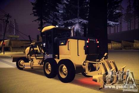 Caterpillar 140AWD Motorgrader für GTA San Andreas linke Ansicht