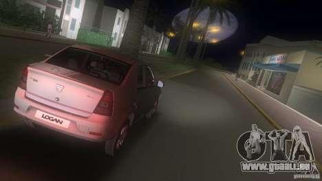 Dacia Logan pour GTA Vice City vue arrière