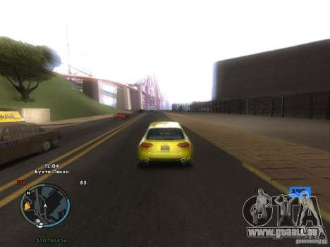 Indicateur de vitesse électronique pour GTA San Andreas septième écran