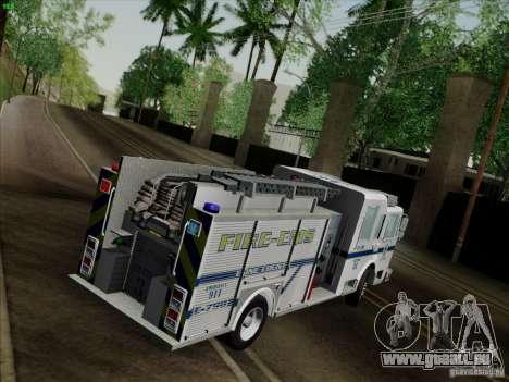 Pierce Pumpers. B.C.F.D. FIRE-EMS pour GTA San Andreas vue intérieure