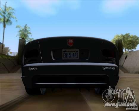 Dodge Viper SRT-10 Coupe für GTA San Andreas Innenansicht