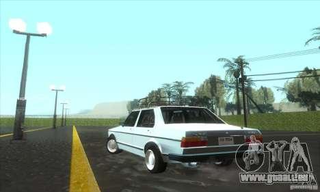 Volkswagen Jetta MK1 pour GTA San Andreas sur la vue arrière gauche