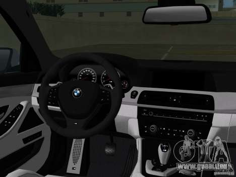 BMW M5 F10 2012 für GTA Vice City Innen