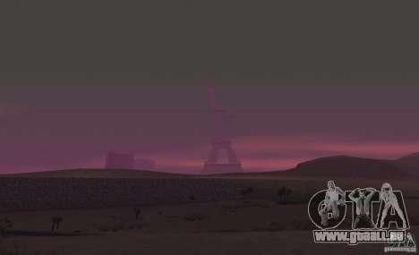 La tour Eiffel depuis Call of Duty : Modern Warf pour GTA San Andreas quatrième écran