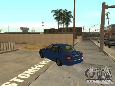 LADA 2170 Drain für GTA San Andreas zurück linke Ansicht
