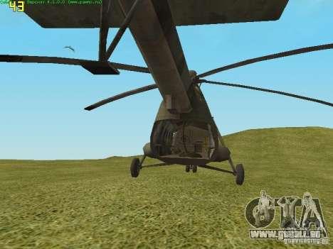MI-8 MTV pour GTA San Andreas vue de droite