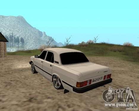 GAZ 31029 für GTA San Andreas zurück linke Ansicht